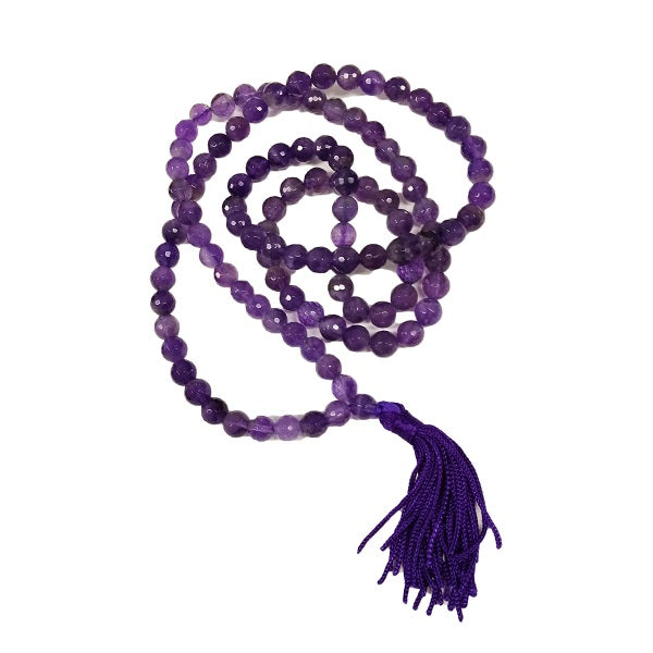 Amethyst Mala for spirit connection and protection