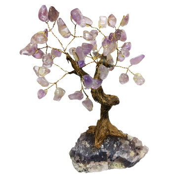 Amethyst Crystal Gem Bonsai Tree - Body Mind & Soul
