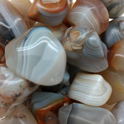 Banded Agate for anxiety, resilience, reflection