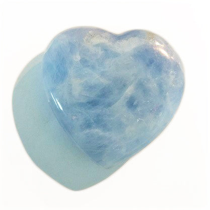 Blue Calcite Heart for comfort and nurturing