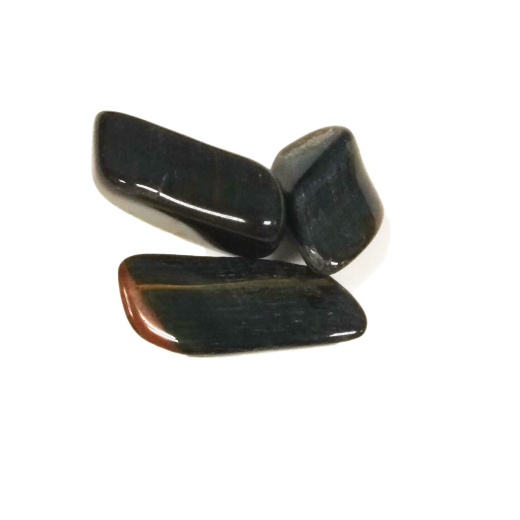 Blue Tiger Eye for courage, willpower, psychic protection