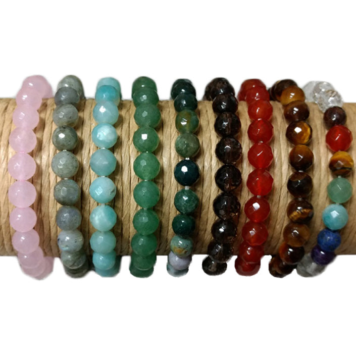 Faceted Crystal Healing Bracelets