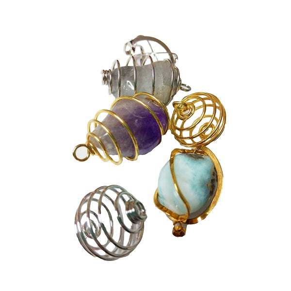 Crystal Pendant Cages - Body Mind & Soul