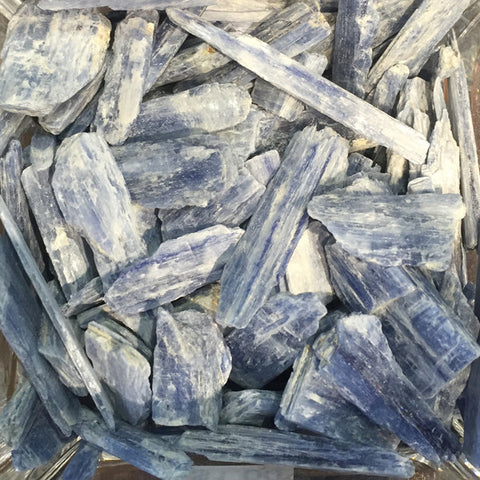 Blue Kyanite for psychic gifts, higher learning, clearing all the chakras