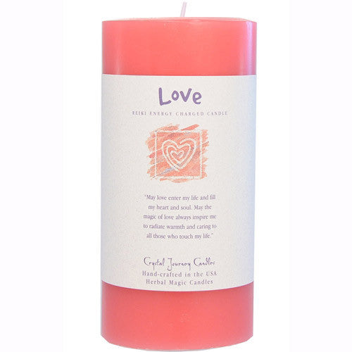 Reiki Love Candle Pillar