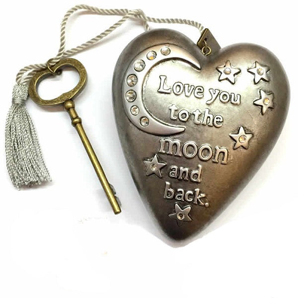 Love You To The Moon Art Heart