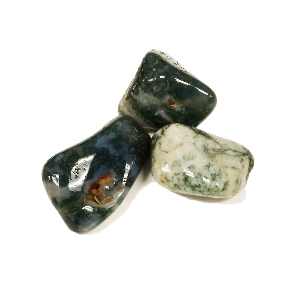 Moss Agate for new beginnings, victory, thriving