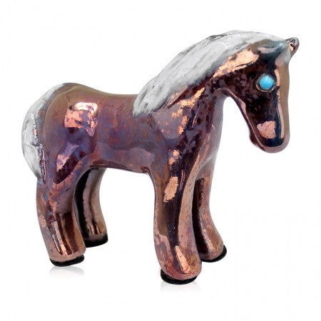 Raku Spirit Friends Pony Copper