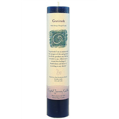 """Gratitude"" Pillar Candle - Body Mind & Soul"