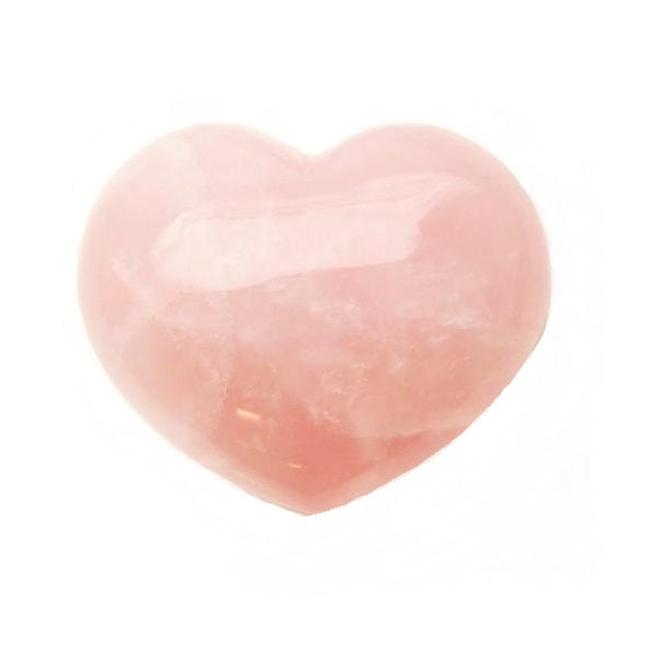 Rose Quartz Heart for love & compassion - Body Mind & Soul