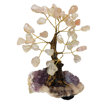 Rose Quartz Crystal Bonsai Tree - Body Mind & Soul