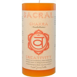 Sacral Chakra Candles - Body Mind & Soul