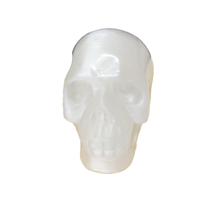 Selenite Skull for clearing energy, purifying