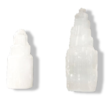 Selenite Towers for clearing energy, positive vibes, purifying