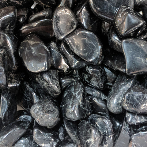 Black Tourmaline for protection, dispersing tension, encouraging positivity