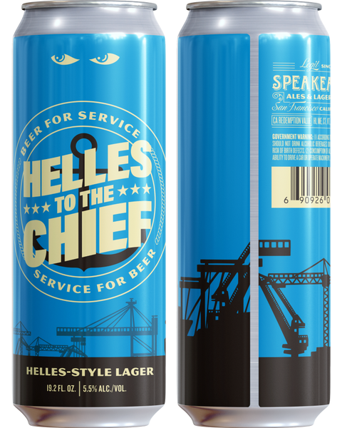 Helles To The Chief - 4 pack 19.2oz cans