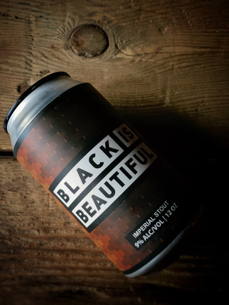 Black Is Beautiful Russian Imp. Stout w/ Coffee 4-pack 12oz cans