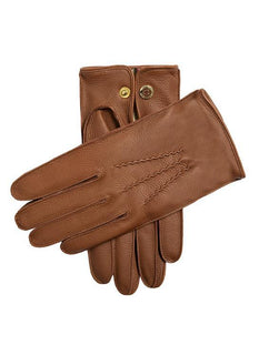 Men's Cashmere Lined Deerskin Leather Gloves