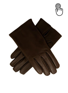 Men's Cashmere Lined Touchscreen Leather Gloves