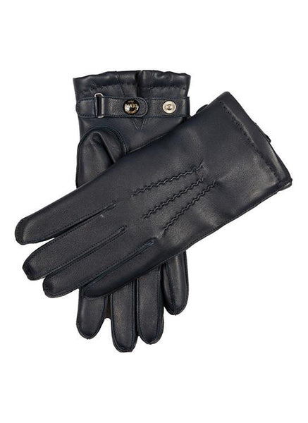 Men's Curly Lambskin Lined Leather Gloves