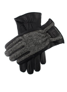 Men's Harris Tweed & Leather Gloves