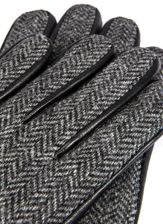 Men's Abraham Moon Tweed & Leather Gloves