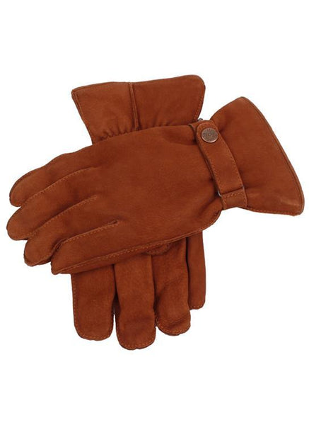 Men's Fleece Lined Nubuck Leather Gloves