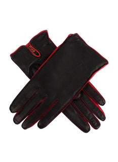 Women's Cashmere Lined Hairsheep Leather Gloves with Contrast Side Walls