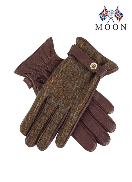 Women's Cashmere Lined DeerskinLeather & Abraham Moon Gloves
