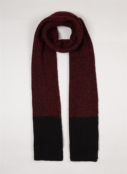 Men's Wool Blend Marl Knitted Scarf