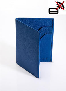 Pebble Grain Leather Passport Holder with RFID Blocking Protection