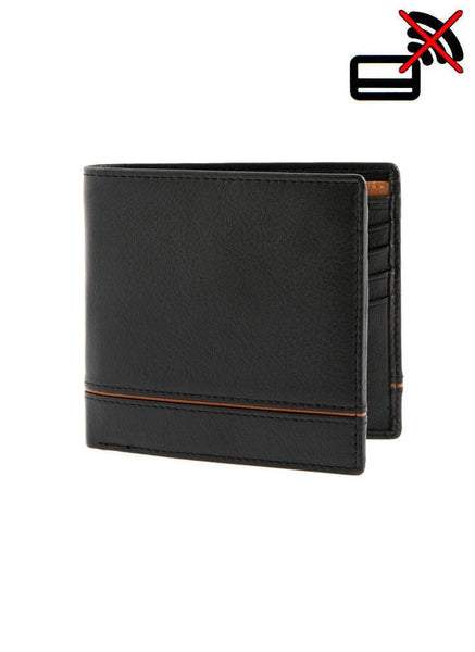Natural Grain Leather Wallet with RFID Blocking Protection