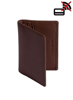 Smooth Leather Card Holder with RFID Blocking Protection