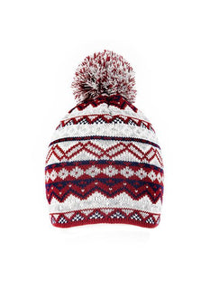 Alpine Fair Isle Knitted Hat with Pom Pom