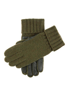 Knitted Shooting Gloves with Leather Palm