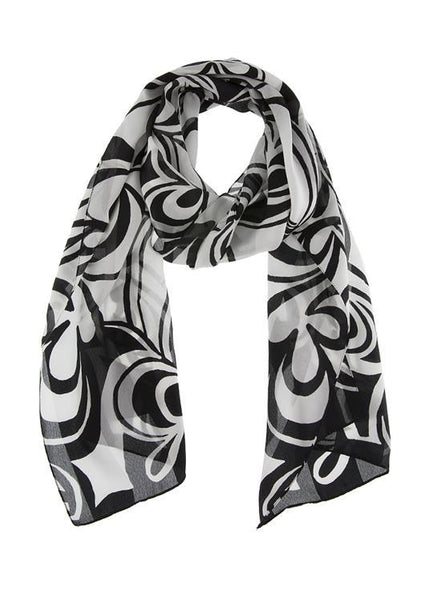 Abstract Swirl Print Scarf