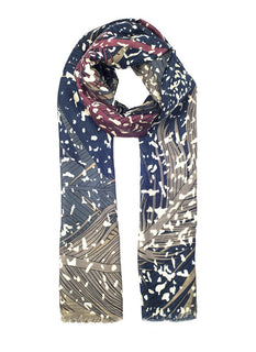Women's Feather & Speckle Scarf