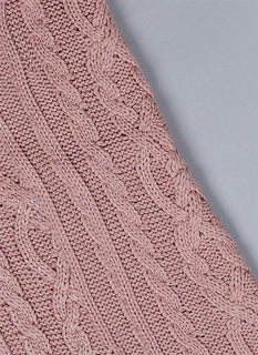 Metallic Cable Knit Scarf