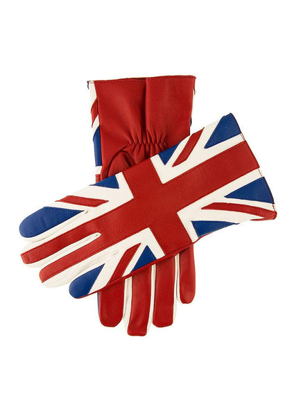 Men's Leather Union Jack Gloves