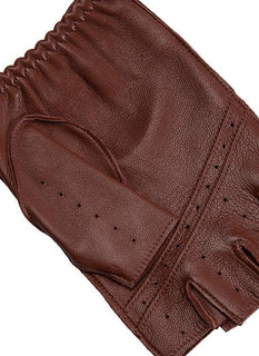 Men's Fingerless Leather Driving Gloves