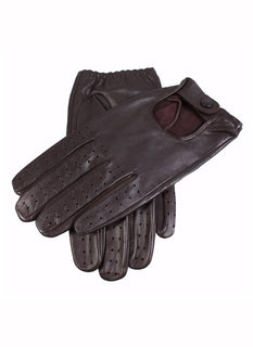 Men's Plain Leather Driving Gloves
