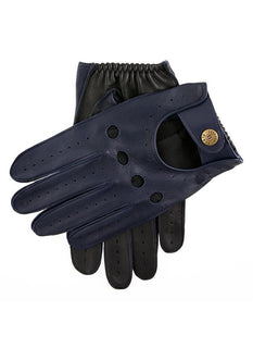 Men's Two Colour Leather Driving Gloves