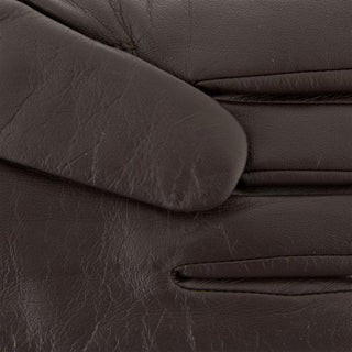 Men's Cashmere Lined Leather Gloves with Contrast Details