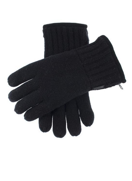 Men's Thinsulate Lined Knitted Gloves with Zip