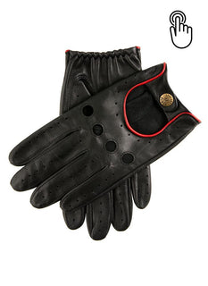 Men's Touchscreen Leather Driving Gloves