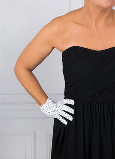 Women's Spotted Cotton Gloves