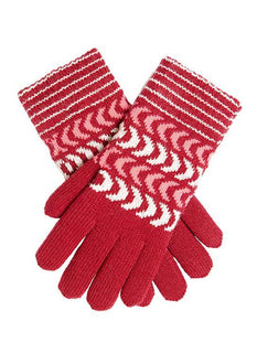 Women's Chevron Knitted Gloves