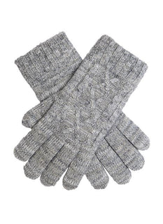 Women's Metallic Cable Knit Gloves
