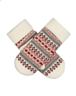 Women's Fair Isle Knitted Mittens