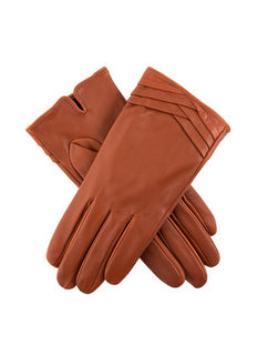 Women's Leather Folded Cuff Gloves
